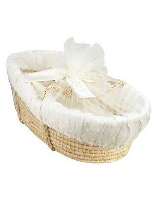Brand New Neiman Marcus Swankie Blankie Moses Basket in Ivory