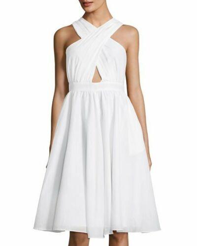 $318 Catherine Malandrino Bleach White Annabeth Crisscross S