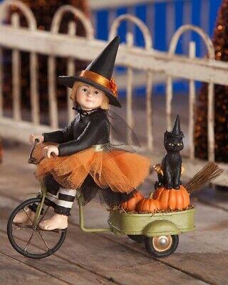 Bethany Lowe Brand New Halloween Ride Witch Costume Black Cat Trick Treat Izzy