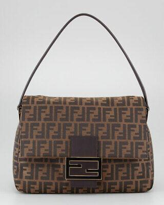 FENDI Zucca Pattern Monogram Big Mama Canvas Shoulder Bag (0000)