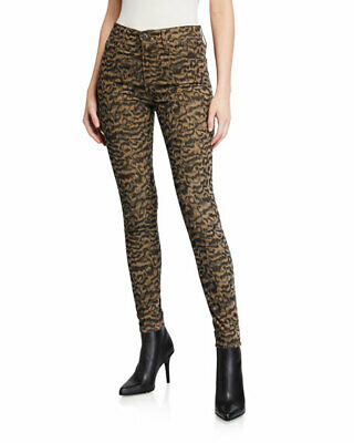 NWT AG Farrah Skinny Ankle Jeans - Leopard Print - Size 26