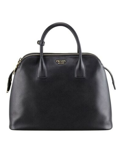 3000 New Prada Saffiano Soft Leather Medium Double Zip Hand Bag Satchel Tote