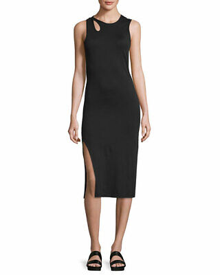 $295.00 Public School Black Caia Cutout Jersey Dress Sz.XS
