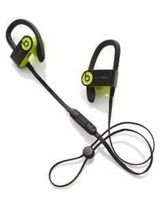 Black and green Beats by Dr. Dre PowerBeats wireless canalbuds