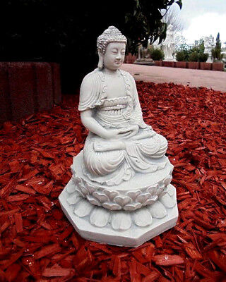 Buddha, Steinfigur, Gartenfigur, Steinguss, Feng Shui, Skulptur, Gartendeko
