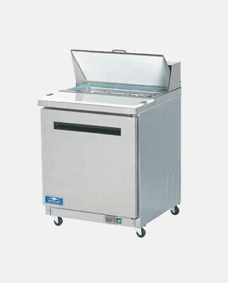 Arctic Air Ast28r 29 1 Door Commercial Refrigerated Sandwich Prep Table Cooler