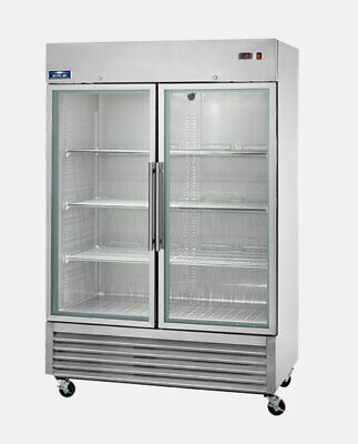 Arctic Air Agr49 54 Two Section Glass Door Reach-in Refrigerator - 49 Cu. Ft.ns