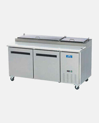 Arctic Air App71r 71 Commercial Two Door Pizza Prep Refrigerator Table Cooler N