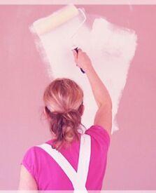 Female painter and decorator