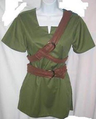 Link Costume Zelda Cosplay Ocarina of Time or Twilight Princess custom made USA (Link Cosplay Kostüm Ocarina Of Time)