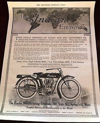 Indian Motorcycle Vintage Advertising Poster Reproduction-Saturday Evening Post