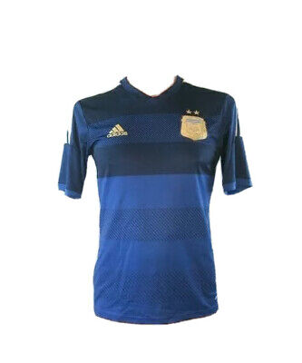 Jersey Shirt 2014 World Cup Soccer Argentina AFA Mens S Blue Striped Blank image