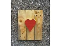 Handmade pallet wall art 3D Heart design