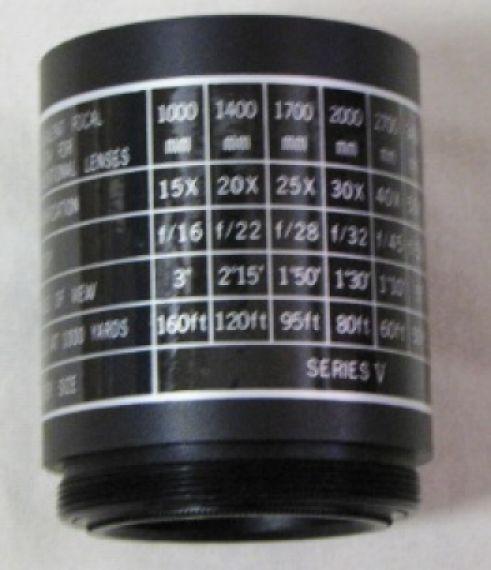 Tasco T adapter for spotting scopes or telescopes as a T extension tube.  NEW!