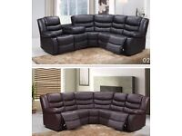 Corner recliner sofa - brand new - £650