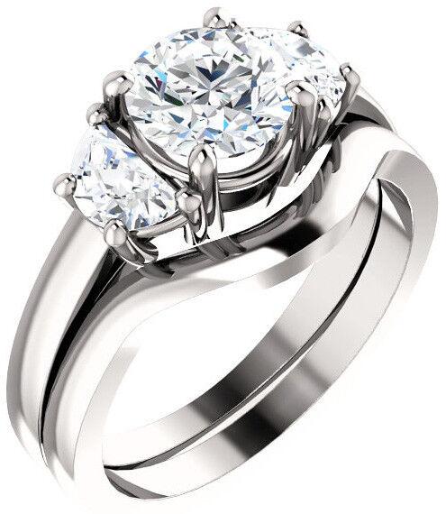 GIA 1.01 carat Round Diamond Engagement Solitaire 14k White Gold Ring G VS2