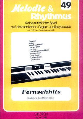Fernseh TV Melodien Songbook Noten Keyboard sehr leicht