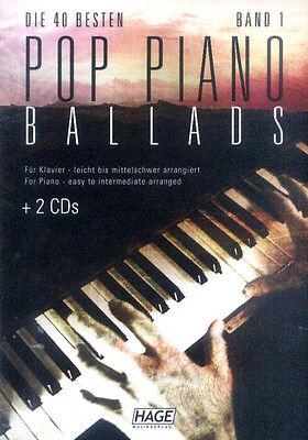 Die 40 besten Pop Piano Ballads Band 1 Klavier leicht Songbook Noten mit 2 CDs