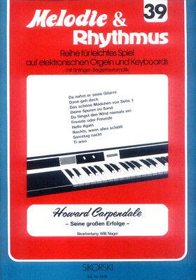 Howard Carpendale Songbook Noten Keyboard sehr leicht