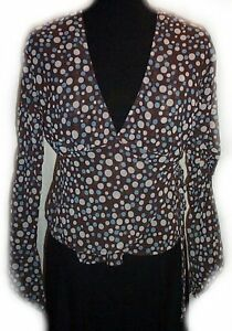 Polka Dot Wrap Blouse - Jrs Small - NEW