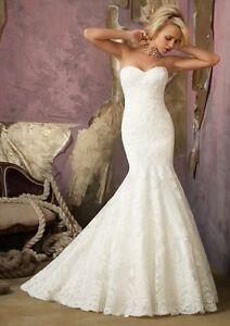 Ivory mermaid wedding dress-- Reduced $600
