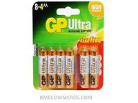 GP 15AU Ultra Carded 8+4 AA Batteries 120Pack Bulk