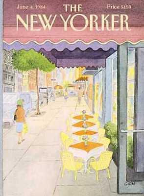 New Yorker Cover 06 04 1984   Restaurant Tables   Cem