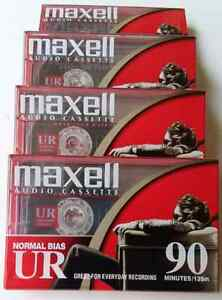 8 Maxwell UR90 7-Pack Blank Audio Cassette Tape
