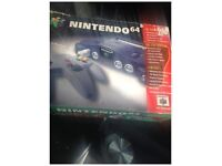 nintendo 64 x3 games boxed with x1 controler