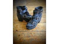 Topshop buckle heeled boots
