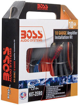 Boss Audio KITZERO Complete 10 Gauge Amplifier Installation Kit 10 Gauge Amplifier Kit