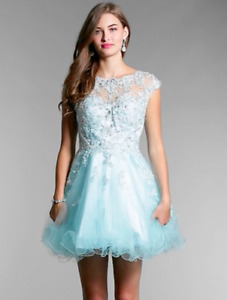 Blue Grade 8 Grad Dress/Formal Dress - Size Small