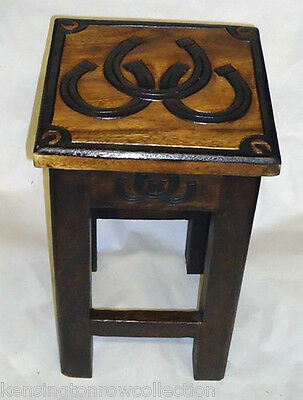 TABLES - HORSESHOE ACCENT TABLE - HORSE SHOE TABLE - EQUESTRIAN DECOR ()