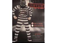 Boys Halloween Insane Convicted Costume Age 5-7.. . . . . . .