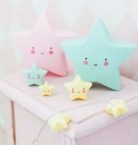 Kid's Star Night Light - A Lovely Little Company - Mint Color