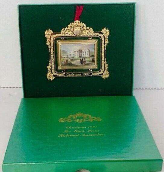 White House Christmas Ornament w/ original box - 1997 Clintons!