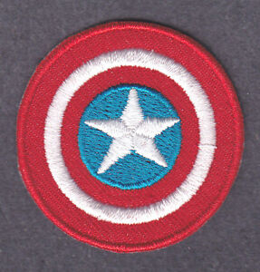 CAPTAIN AMERICA LOGO - MARVEL COMICS- Iron On  Patch/TV, Movie,Cartoons,
