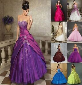 STOCK-New-Prom-Party-Ball-Gown-Formal-Wedding-Bridesmaid-Evening-Dress-Size-6-16