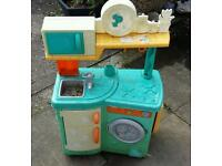 2 Play Kitchens & Wooden Doll House