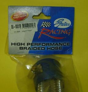 Gates Racing S.S.Braided Flexible Radiator Hose 32mm ID x 330mm + Clamps, Caps