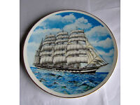 COLLECTORS CHINA PLATE OF THE BARQUE KRUSENSTERN (EX PADUA)