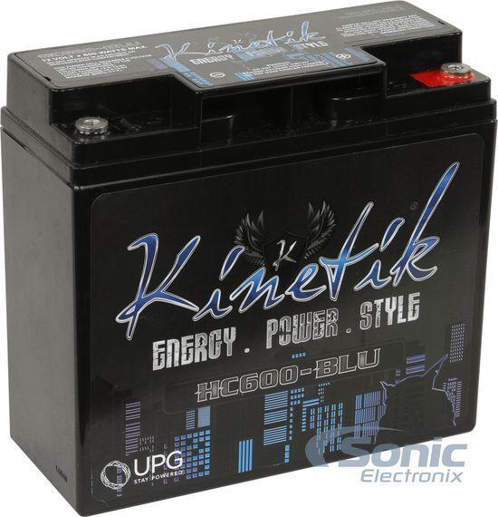 Kinetik HC600-BLU 600W RMS Blue Car Audio High Current Power Cell/Battery HC600