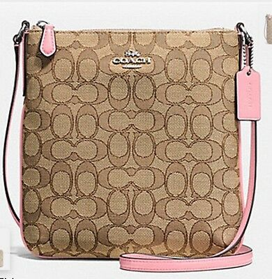 Nwt Coach F58421 North South Crossbody In Outline Signature