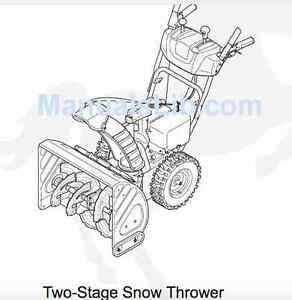 "White Outdoor 28"" Two-Stage Snow Thrower."