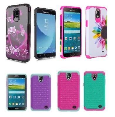 Samsung Galaxy Mega 2 Hybrid Diamond Studded Bling Gem Cell Phone Case Cover