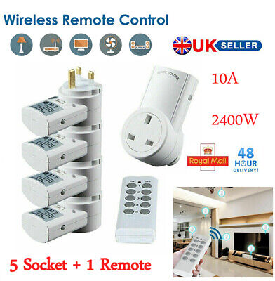Wifi Wireless Remote Control Sockets Electrical Mains Plug Outlet Switch 10A UK
