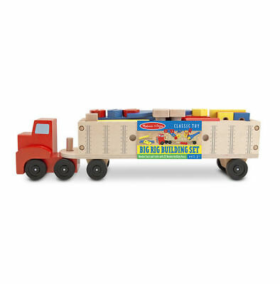 Melissa and Doug Big Rig Building Truck Wooden Play Set #2758