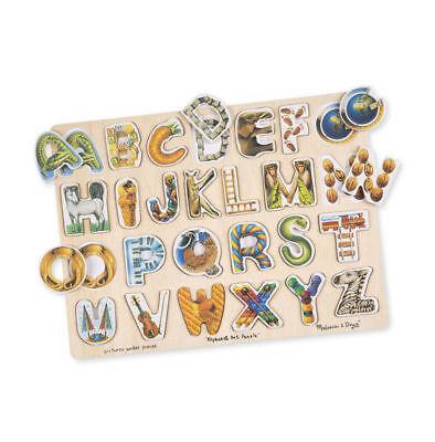 Melissa & Doug Alphabet Art Wooden Puzzle (26 pcs) New #83 Alphabet Art Puzzle