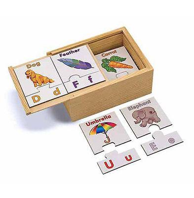 Melissa & Doug Alphabet Puzzle Cards #2525 NEW