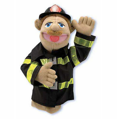 """15"""" FIREFIGHTER PUPPET  Free Shipping in USA ~ Melissa & and Doug  #2552"""